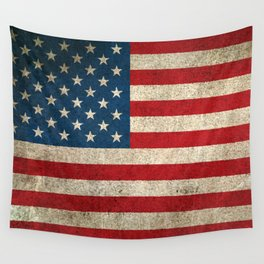 Old and Worn Distressed Vintage Flag of The United States Wall Tapestry