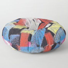 Multicolor construct Floor Pillow