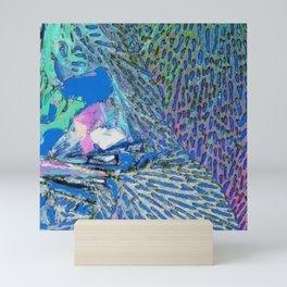 Abstract Rainbow Textured Painting - Tropical Bird Inspired Mini Art Print