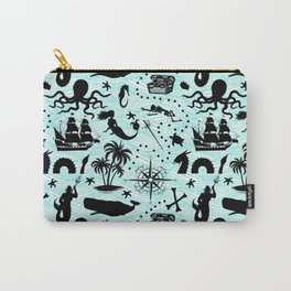 High Seas Adventure // Teal Waves Carry-All Pouch