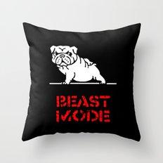 Beast Mode English Bulldog Throw Pillow