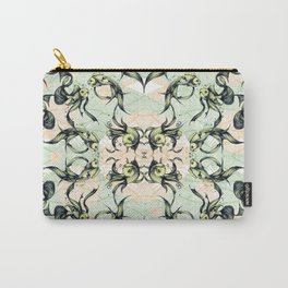 Goldfish Motif # Green & Yellow Carry-All Pouch