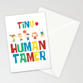 Kindergarten Cute Kids Children Baby Gift Tiny Human Tamer Stationery Cards