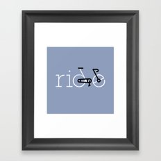 ride 16 Framed Art Print
