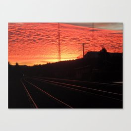 Sunset Railroad Canvas Print
