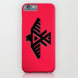 Thunderbird flag - Black on Red variation iPhone Case