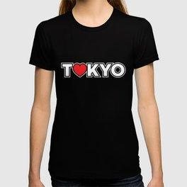 Red Tokyo Heart Love Japan Japanese Icon Souvenir Gift T-shirt