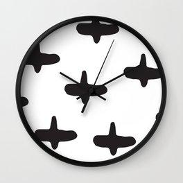 Cross my heart Wall Clock