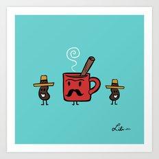 Cafe De Olla Art Print