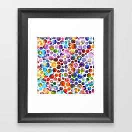 Dots on Painted Background 5 Framed Art Print