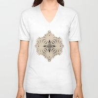 cyberpunk V-neck T-shirts featuring Ancient Calaabachti Filigrane by Obvious Warrior