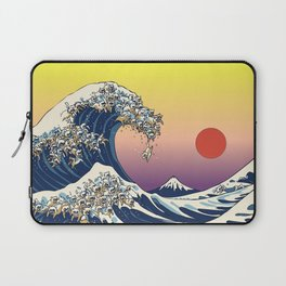 The Great Wave Of  Cat Laptop Sleeve