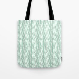 Knit Wave Mint Tote Bag