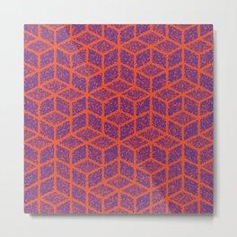 Kenna (Orange and Violet) Metal Print