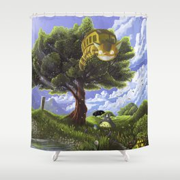 Totoro and Catbus Shower Curtain