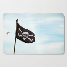 Jolly Roger pirate flag Cutting Board