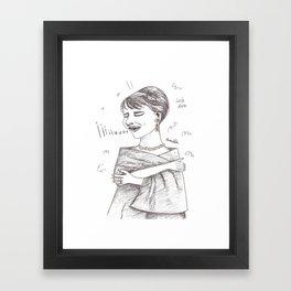 The sopranos - Maria Callas - Pencil Drawing Framed Art Print