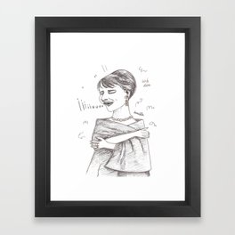 The sopranos - Maria Callas - Pencil Drawing Framed Art Print