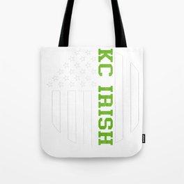 Kansas City Irish graphics by Howdy Swag design Tote Bag