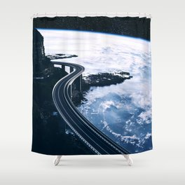 Road on Earth Shower Curtain