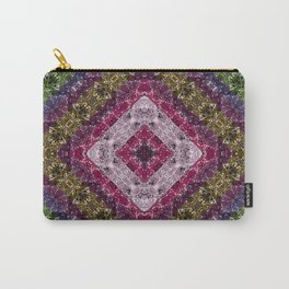 Colorful abstract pattern, patchwork, multicolored, plaid, multicolored plaid, bright, ethnic , Carry-All Pouch