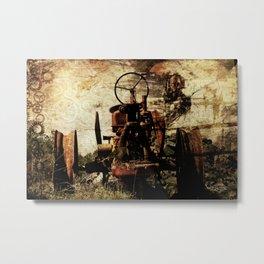 Scrap Tractor Metal Print