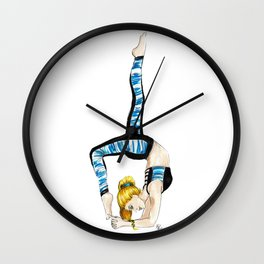 Yoga Bunny Wall Clock