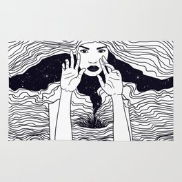 soul waves Rug
