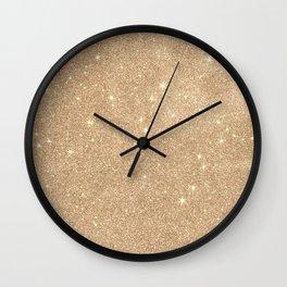 Gold Glitter Chic Glamorous Sparkles Wall Clock