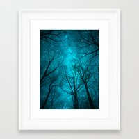 silhouette Framed Art Prints featuring Stars Can't Shine Without Darkness  by soaring anchor designs