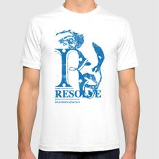 Resolve - On a course of action Mens Fitted Tee White SMALL