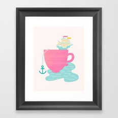 Cup of Sea Framed Art Print