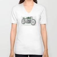 motorbike V-neck T-shirts featuring MOTORBIKE by EDENLAND