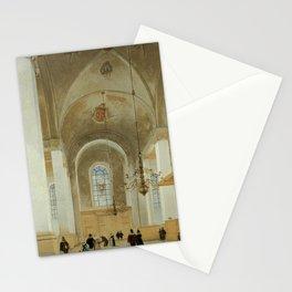 Pieter Jansz Saenredam - Interior of the Nieuwe Kerk, Haarlem Stationery Cards