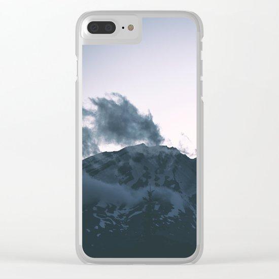 Mount Saint Helens II Clear iPhone Case