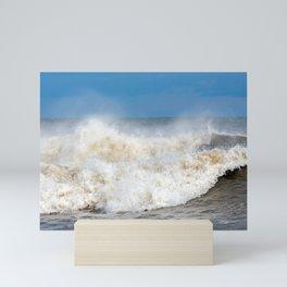 Seaham waves Mini Art Print