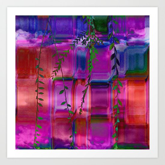 Infused colors Art Print