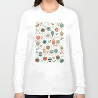 folk Long Sleeve T-shirts featuring Festive Folk Charms by Poppy & Red