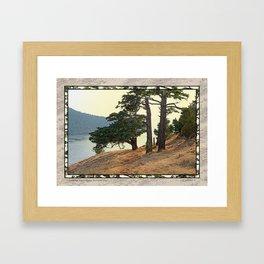 LOOKING WEST ALONG BURROWS PASS Framed Art Print
