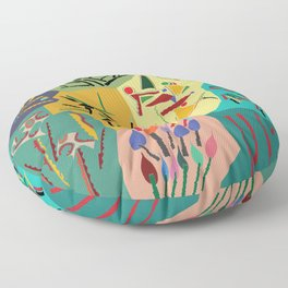 collage play Floor Pillow