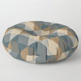 Caffeination Geometric Hexagonal Repeat Pattern Floor Pillow