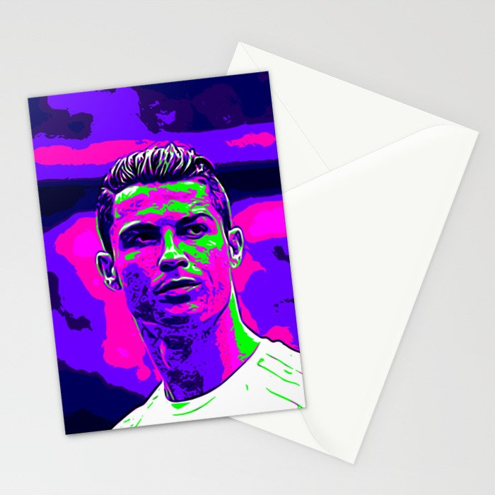 Ronaldo - Neon Stationery Cards