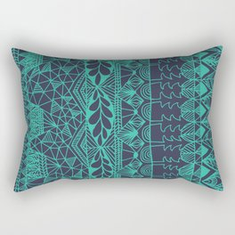 Mountain Tapestry in Midnight Teal Rectangular Pillow