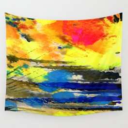Art Abstraction 1A by Kathy Morton Stanion Wall Tapestry