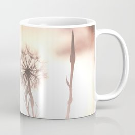 Pink Distant Dandelion Flower - Floral Nature Photography Art and Accessories Coffee Mug
