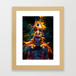 Colorful Hollow Framed Art Print