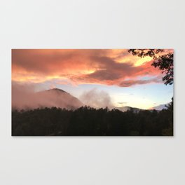 Sunset in Appalachia Canvas Print