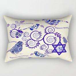 Hanukkah Seasons Tweetings  Rectangular Pillow