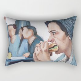 Jughead Jones Eats a Burger - Riverdale Rectangular Pillow