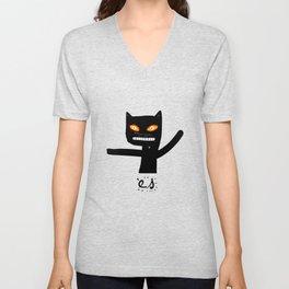 Le chat noir Unisex V-Neck